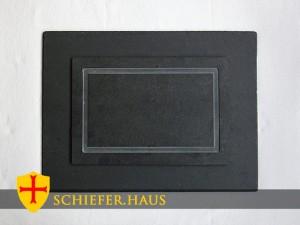 Anti Drip Reckteckige Teller Schiefer. Platzset Naturschiefer.