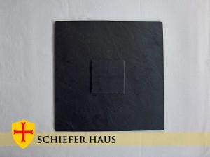 Basic Quadratische Schiefer Teller mit Platzset Schiefer. Naturstein.