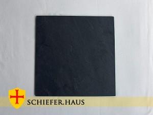 Basic Quadratische Schiefer Teller. Naturschiefer Teller.
