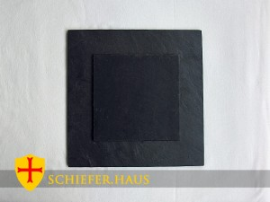 Basic Quadratische Schiefer Teller. Platzset Schiefer.