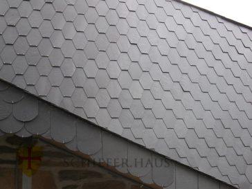 Schieferplatten fassade und dach