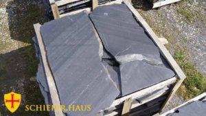Schiefer Polygonalplatten Naturschiefer für Garten 3cm. Schwarz. Schieferbruch in Spanien. Kein Oxid.
