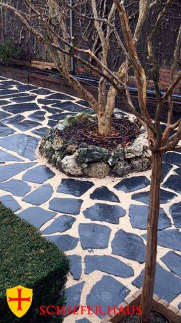 Polygonalplatte Schiefer für Garten und Terrasse. Schieferbruch in Spanien. Kein Oxid. Gehwegplatten aus Schiefer.