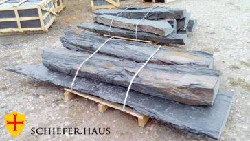 Naturstein für garten und haus. Schiefer für garten. Große Monolithen aus Schiefer. Schiefer Monolith.