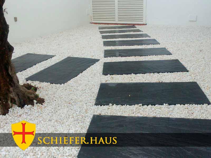 schieferplatten f r garten und terrasse schiefer haus. Black Bedroom Furniture Sets. Home Design Ideas